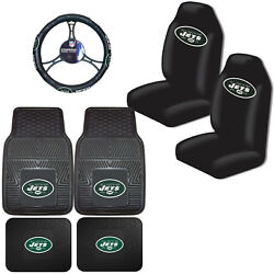 Nfl New York Jets Car Truck Seat Covers Floor Mats And Steering Wheel Cover