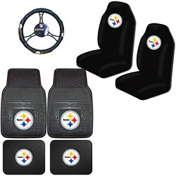 Nfl Pittsburgh Steelers Car Truck Seat Covers Floor Mats And Steering Wheel Cover