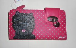 Brindle Cairn Terrier dog Hand Painted  Leather Wallet Vegan