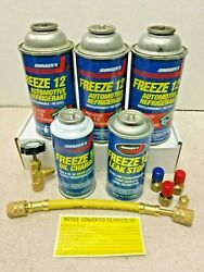 Freeze 12 R12 R134A AC Recharge kit Refrigeration Freeze 12 Charging Hose