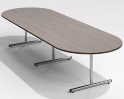 Sven Ambus 3500 X 1200mm D-end T-base Boardroom Meeting Table 3.5m
