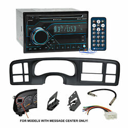 Planet Audio Car USB Bluetooth Stereo Dash Kit Harness for 99-02 GM Truck SUV