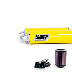 Hmf Can-am Renegade 500 2013 - 2015 Yellow Dual Full Exhaust And Efi + Kandn