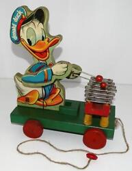 Disney 1946 Donald Duck Xylophone Wooden Pull Toy 177-early Post War Toy-ex.