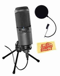 Audio-Technica AT2020USBi Cardioid Condenser USB Microphone w Pop Filter