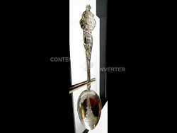 Indiana Soldiers Sailors Monument Sterl Souvenir Spoon