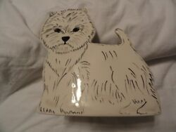 West Highland White Terrier Westie Ceramic Planter Vase  LAST ONE!