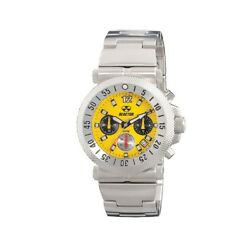 Reactor 64007 Fallout Yellow Dial Date Indicator Stainless Steel Men's Watch