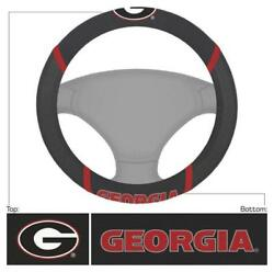 New NCAA Georgia Bulldogs Car Truck Embroidered Steering Wheel Cover