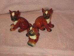 3 Goebel Porcelain Dog Figurines Boxer Boxer and yes another Boxer