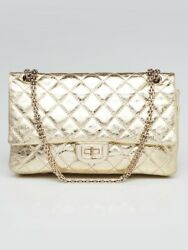 Chanel Gold 2.55 Reissue Quilted Classic Leather 226 Flap Bag