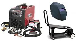 Lincoln Electric K2698-1hc Easymig 180 Welder With Adf Helmet And Cart New