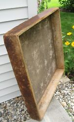 Primitive Wooden X-lg Square Trencher Dovetailed Multi Purpose Bakery Find