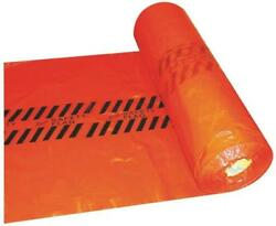 New Warp Rsf Disposable Heavy Duty Red Safety Flags 18 X 18 Roll 500 6176457