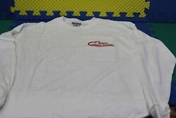 Bertand039s Custom Tackle White Long Slv 50/50 Poly Cotton Dry Blend Choose Size