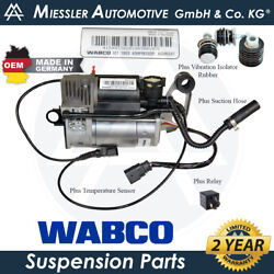 Porsche Cayenne 955/9pa Oem New Air Suspension Compressor And Relay 95535890105