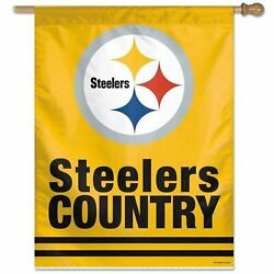 Pittsburgh Steelers Country Wc Premium 28x40 Banner Outdoor House Flag Football