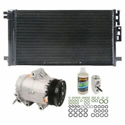AC Repair Kit + OEM AC Compressor & Clutch Fits Saturn Ion and Chevy Cobalt