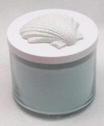 1 Bath amp; Body Works SPARKLE WHITE SEA SHELL Candle Lid Magnet Decor Accessory