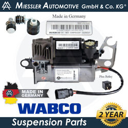 Porsche Cayenne 955/9pa '03-10 Oem Air Suspension Compressor And Relay 95535890105