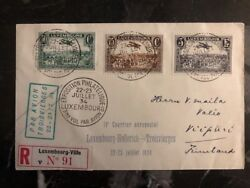1934 Luxembourg First Day Cover To Vipuri Finland Airmail 2 Cover Stamp Set B