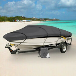 New Boat Cover 16and039 17and039 18.5and039 Ft V-hull Bass Runabout Boat Gray Storage Covers