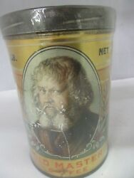 Vintage Old Master Brand Coffee Tin Advertising Collectible Graphics 463-u