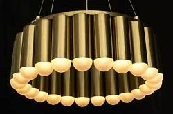 Stunning Brass Chandelier With 23 Led Lights Inspired By Lee Broom Carousel.