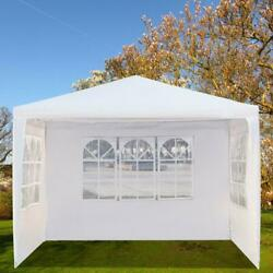 10and039x10and039 Garden Outdoor Canopy Party Wedding Tent Gazebo Pavilion W/3 Window Wall