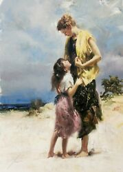 Pino Sharing A Moment   Signed Giclee/canvas   Large 40x30   Others Available