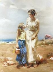 Pino By The Sea | Signed Giclee/canvas | Large 40x30 | Others Avail | Gallart