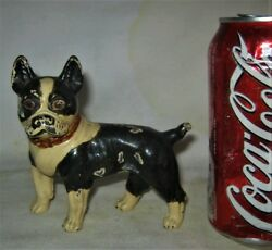 Antique Usa Boston Terrier Cast Iron Dog Statue Sculpture Hubley Toy Doorstop Us