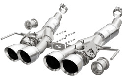 Magnaflow Axleback Competition Series Exhaust System Polished Tips 4 C7 Corvette