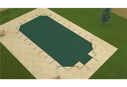 Gli Promesh Rectangle Swimming Pool Safety Cover W/ 4and039 Radius Corners And Step