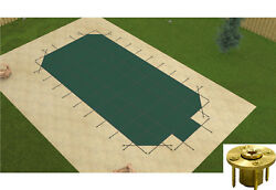 Gli Secure-a-pool Grecian Mesh Swimming Pool Safety Cover W/ Step And Wood Anchors
