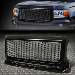 For 15-18 Gmc Canyon Bright Black Denali Style Front Bumper/hood Grille/grill