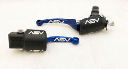 ASV Unbreakable F4 Blue Clutch Brake Levers Hot Dust Covers CRF 250R CRF 450R