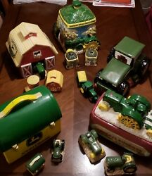 John Deere Cookie Jars With Matching Salt And Pepper Shakers
