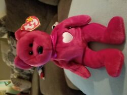 """Ty Beanie Babies Collection """"valentina"""" Valentine's Day Bear - Rare Tag Errors"""
