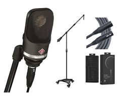 Neumann TLM107 Black Condenser TLM107 Mic +Pop Filter +Mogami Cable +Stand