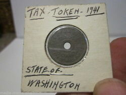 1941 State Of Washington 14 Cent Tax Or Purchase Token Coin
