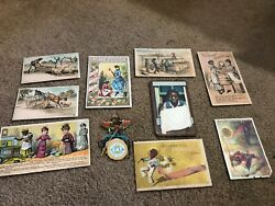 Misc-3432 Lot Of 10 Victorian Trade Cards Black Americana