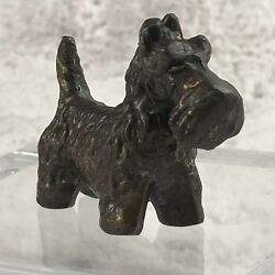 Scottish Terrier Metal Dog Figurine
