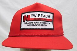 Vintage New Reach Company Inc Green Bay Wisconsin Snapback Hat Embroidered Patch
