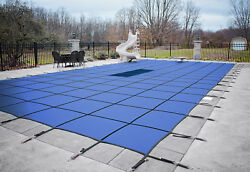 Loop Loc Blue Ultra Loc Iii Swimming Pool Solid Safety Covers W/ Drain Panel