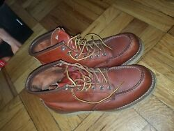 Red Wing Boots 7 D used Heritage Work Men's #8131 Very Clean Inside