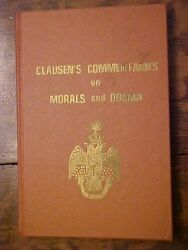 Book Clausen's Commentaries On Morals And Dogma Freemason Masonic