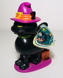 Vintage 1999 GALLERIE HALLOWEEN BLACK CAT Talking Candy Container bubble gum