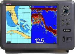 X10d Gps Chartplotter Gpx-120f Complete With Bronze Thru-hull Transducer
