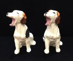 Vintage Pair Of Ceramic English/american Foxhounds